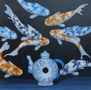 Chinese Blue Teapot - SOLD