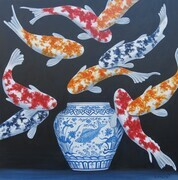 Colorful Koi - SOLD