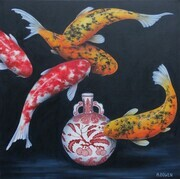Kumquats and Koi - SOLD
