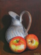 Tin Jug and Apples - SOLD